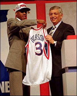 Allen-Iverson-wybrany-w-drafcie