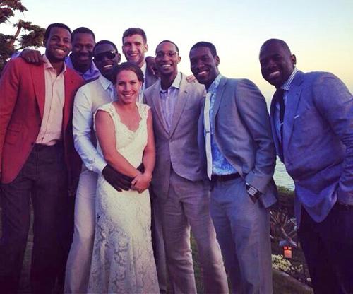 Jrue Holiday bierze ślub