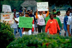 Protesty w sprawie skazanych