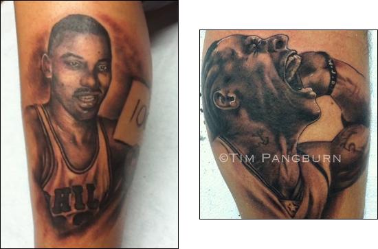 Tatuaż z Chamberlainem i Iversonem