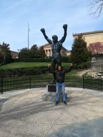 Rocky`s statue in Philly
